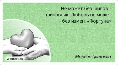 Не может без шипов – шиповник, Любовь не может – без измен. «Фортуна»