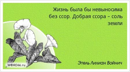 Жизнь была бы невыносима без ссор. Добрая ссора – соль земли
